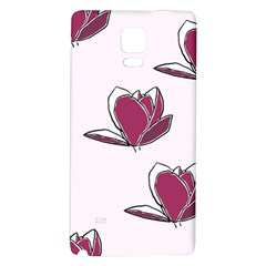 Magnolia Seamless Pattern Flower Galaxy Note 4 Back Case