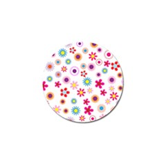 Floral Flowers Background Pattern Golf Ball Marker (4 Pack)