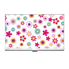 Floral Flowers Background Pattern Business Card Holders
