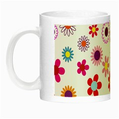 Floral Flowers Background Pattern Night Luminous Mugs