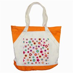 Floral Flowers Background Pattern Accent Tote Bag