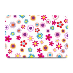 Floral Flowers Background Pattern Plate Mats