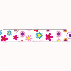 Floral Flowers Background Pattern Small Bar Mats