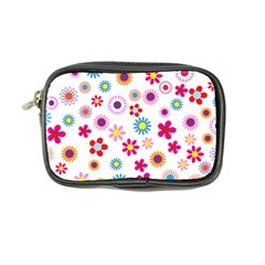 Floral Flowers Background Pattern Coin Purse