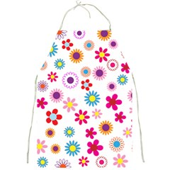 Floral Flowers Background Pattern Full Print Aprons