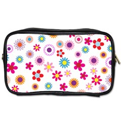 Floral Flowers Background Pattern Toiletries Bags