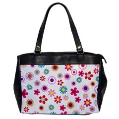 Floral Flowers Background Pattern Office Handbags