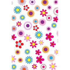 Floral Flowers Background Pattern 5 5  X 8 5  Notebooks