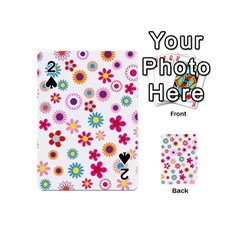 Floral Flowers Background Pattern Playing Cards 54 (mini)
