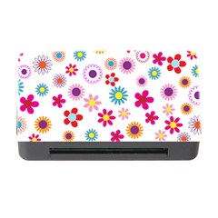Floral Flowers Background Pattern Memory Card Reader With Cf