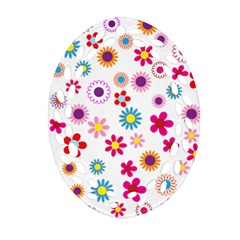 Floral Flowers Background Pattern Ornament (oval Filigree)