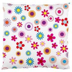 Floral Flowers Background Pattern Large Cushion Case (two Sides)