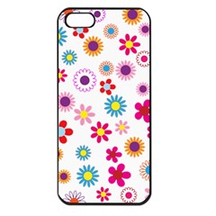 Floral Flowers Background Pattern Apple Iphone 5 Seamless Case (black)