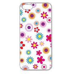 Floral Flowers Background Pattern Apple Seamless Iphone 5 Case (clear)