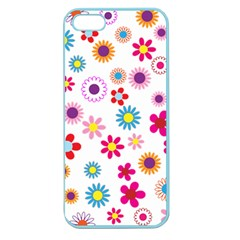 Floral Flowers Background Pattern Apple Seamless Iphone 5 Case (color)