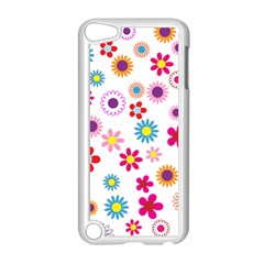 Floral Flowers Background Pattern Apple Ipod Touch 5 Case (white)