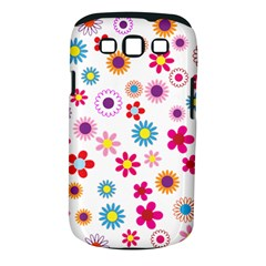 Floral Flowers Background Pattern Samsung Galaxy S Iii Classic Hardshell Case (pc+silicone)