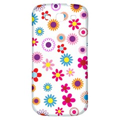 Floral Flowers Background Pattern Samsung Galaxy S3 S Iii Classic Hardshell Back Case