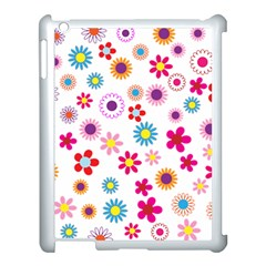 Floral Flowers Background Pattern Apple Ipad 3/4 Case (white)