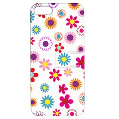Floral Flowers Background Pattern Apple Iphone 5 Hardshell Case With Stand