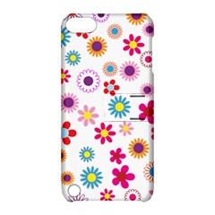 Floral Flowers Background Pattern Apple Ipod Touch 5 Hardshell Case With Stand