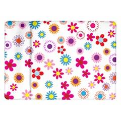Floral Flowers Background Pattern Samsung Galaxy Tab 10 1  P7500 Flip Case