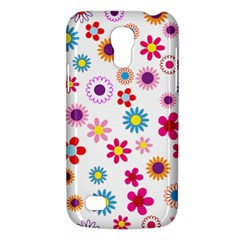 Floral Flowers Background Pattern Galaxy S4 Mini