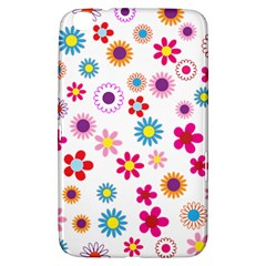 Floral Flowers Background Pattern Samsung Galaxy Tab 3 (8 ) T3100 Hardshell Case