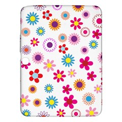 Floral Flowers Background Pattern Samsung Galaxy Tab 3 (10.1 ) P5200 Hardshell Case