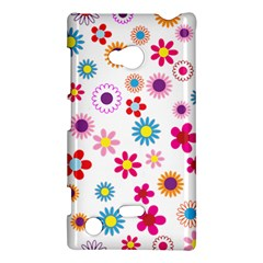 Floral Flowers Background Pattern Nokia Lumia 720