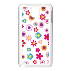 Floral Flowers Background Pattern Samsung Galaxy Note 3 N9005 Case (white)