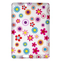 Floral Flowers Background Pattern Amazon Kindle Fire Hd (2013) Hardshell Case
