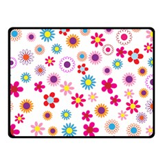 Floral Flowers Background Pattern Double Sided Fleece Blanket (small)