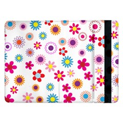 Floral Flowers Background Pattern Samsung Galaxy Tab Pro 12 2  Flip Case