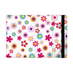 Floral Flowers Background Pattern Ipad Mini 2 Flip Cases