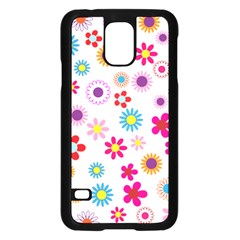 Floral Flowers Background Pattern Samsung Galaxy S5 Case (black)