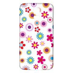 Floral Flowers Background Pattern Samsung Galaxy S5 Back Case (White)