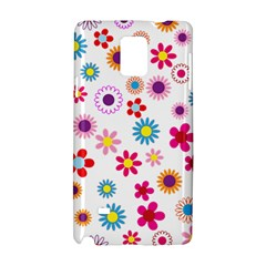 Floral Flowers Background Pattern Samsung Galaxy Note 4 Hardshell Case
