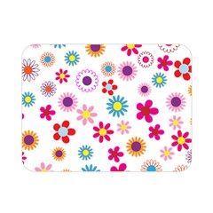 Floral Flowers Background Pattern Double Sided Flano Blanket (mini)