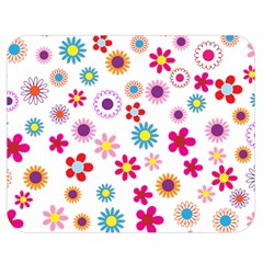 Floral Flowers Background Pattern Double Sided Flano Blanket (medium)