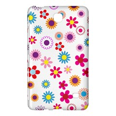 Floral Flowers Background Pattern Samsung Galaxy Tab 4 (7 ) Hardshell Case