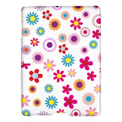 Floral Flowers Background Pattern Samsung Galaxy Tab S (10 5 ) Hardshell Case