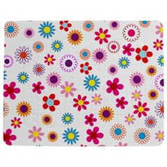 Floral Flowers Background Pattern Jigsaw Puzzle Photo Stand (rectangular)