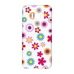 Floral Flowers Background Pattern Samsung Galaxy S8 Hardshell Case