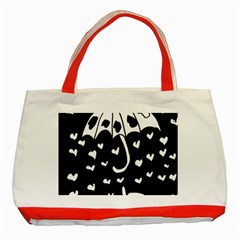 Mandala Calming Coloring Page Classic Tote Bag (red)