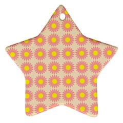 Pattern Flower Background Wallpaper Star Ornament (two Sides)