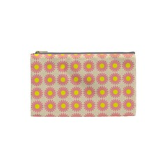 Pattern Flower Background Wallpaper Cosmetic Bag (small)
