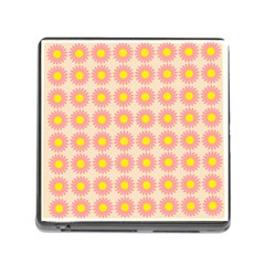 Pattern Flower Background Wallpaper Memory Card Reader (square)