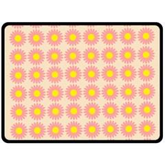 Pattern Flower Background Wallpaper Fleece Blanket (large)