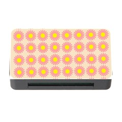 Pattern Flower Background Wallpaper Memory Card Reader With Cf